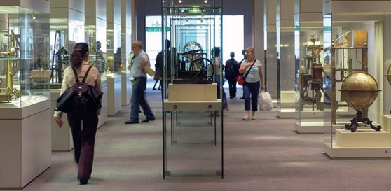 The George 3rd collection of scientific instruments on display at the Science Museum, London