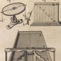 Detailed ink drawing of a machine for oblique and compound collision