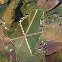 Aerial view of the object storage buildings and land at Wroughton