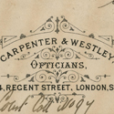A trade card for Carpenter & Westley from 1838