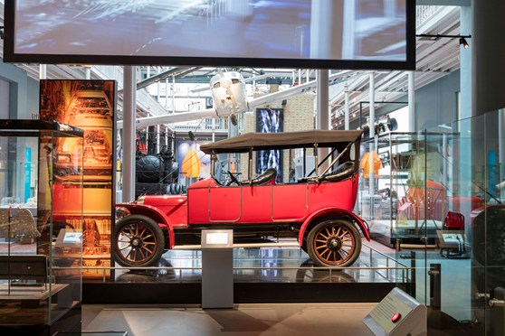 An Argyll motor car on display at the National Museum Scotland