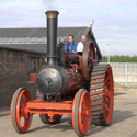 Colour photograph of a restored Marshall traction engine from 1906