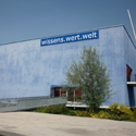 Colour photograph of the front of the Austrian Wissens Wert Welt museum