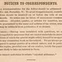 Typewritten page from Science Gossip entitled Notices to Correspondents from 1866