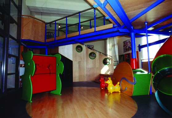 Colour photograph of a room within a museum designed to entertain younger children