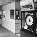 Black and white photograph of the Museums noise abatement exhibition in 1935