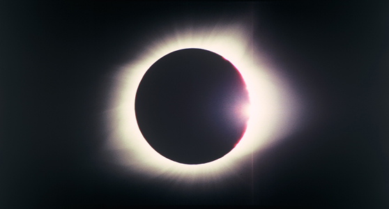 Film still colour image of a total solar eclipse