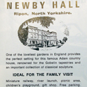 Tourism advertisement for Newby Hall in North Yorkshire