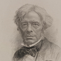 Engraving portrait of Michael Faraday