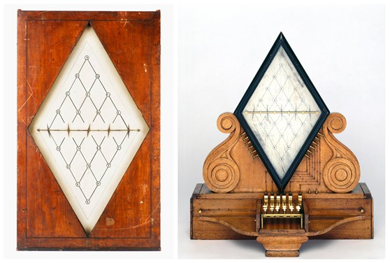 Colour photographs of two  five needle telegraphs made by Cooke and Wheatstone