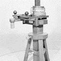 Black and white photograph of an early electromagnetic telegraph apparatus