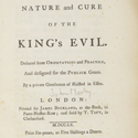 Title page of the first edition from 1760 of an Essay of the Nature and Cure of Scrophulous Disorders