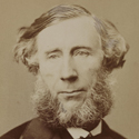 Sepia portrait photograph of John Tyndall
