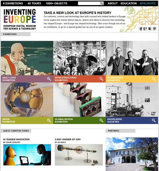 Screenshot of the Inventing Europe website