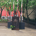 Colour photograph of the Park of Hope AIDS memorial in Montreal