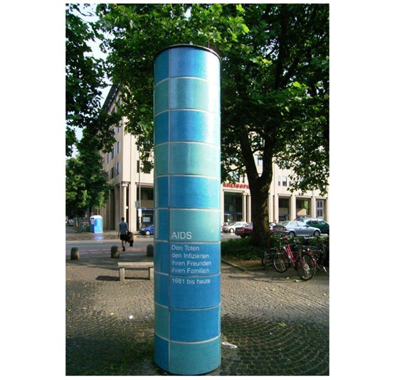 Colour photograph of an AIDS memorial in Munchen